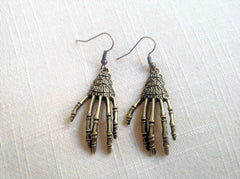 Earrings - Skeleton Hand