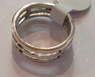 Triple Silver Band Ring