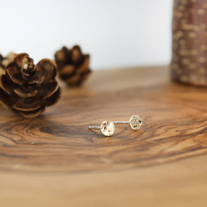 Gold Galaxy Stud Earrings