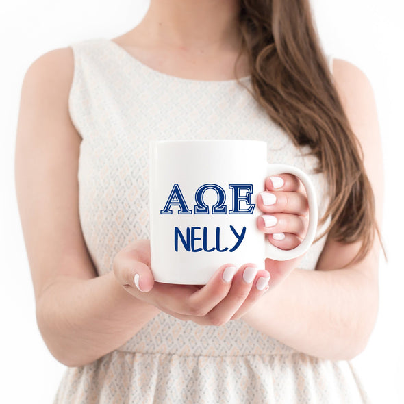 Alpha Omega Epsilon Sorority Mug