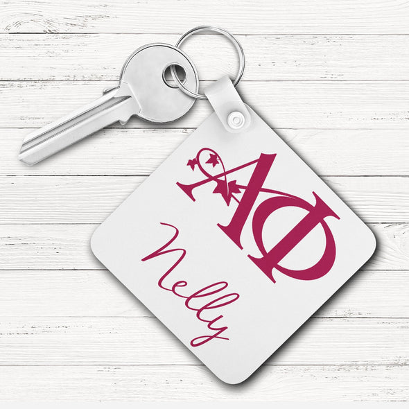 Alpha Phi Square Key Chain