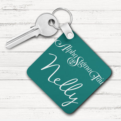 Alpha Sigma Tau Square Key Chain