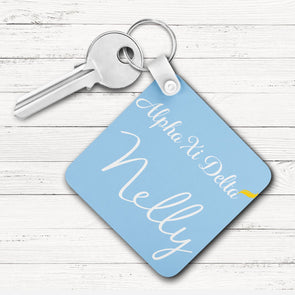 Alpha Xi Delta Square Key Chain