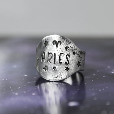 Aires Zodiac Ring