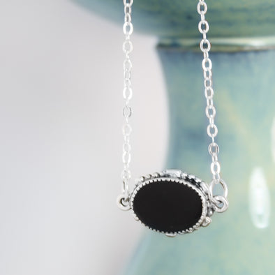 Ornate Black Tourmaline Necklace