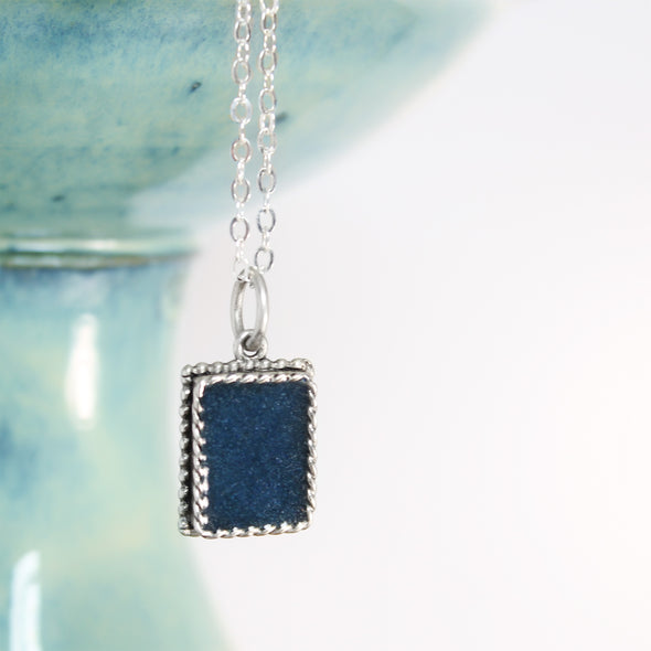 Blue Azurite Pendant Necklace