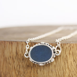 Ornate Blue Azurite Necklace