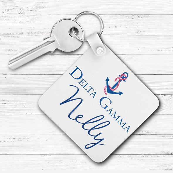 Delta Gamma Square Key Chain