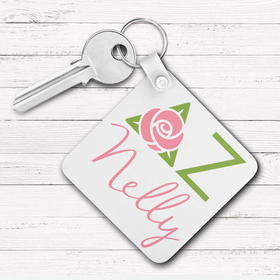 Delta Zeta Square Key Chain