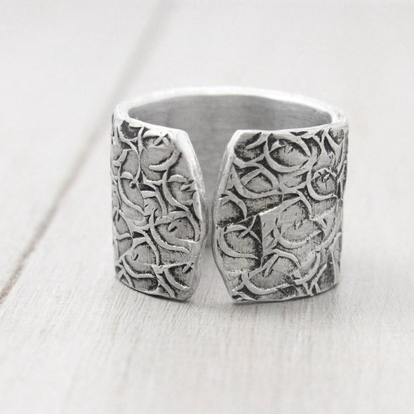Sigma Kappa Floral Texture Ring - Pure Impressions Design - 3