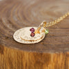 Gold Fill Mother Necklace with Birthstones
