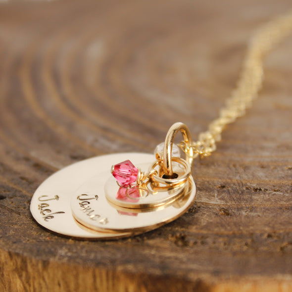 Gold Fill Stacking Mother Necklace
