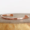 Hand Forged Hammered Copper Cuff