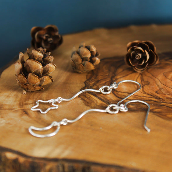 Rope the Moon & Stars Earrings