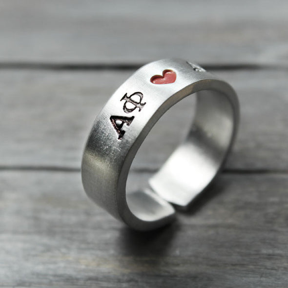 Alpha Phi Heart Ring - Pure Impressions Design - 3