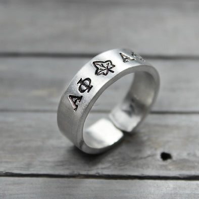 Alpha Phi Ivy Ring - Pure Impressions Design - 1