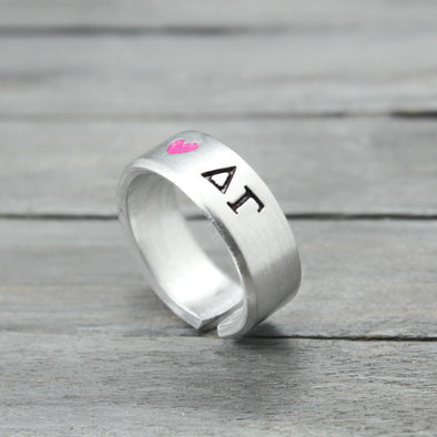 Delta Gamma Heart Ring - Pure Impressions Design - 1