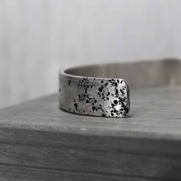 Wide Sterling Silver Galaxy Cuff