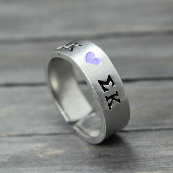 Sigma Kappa Heart Ring - Pure Impressions Design - 1