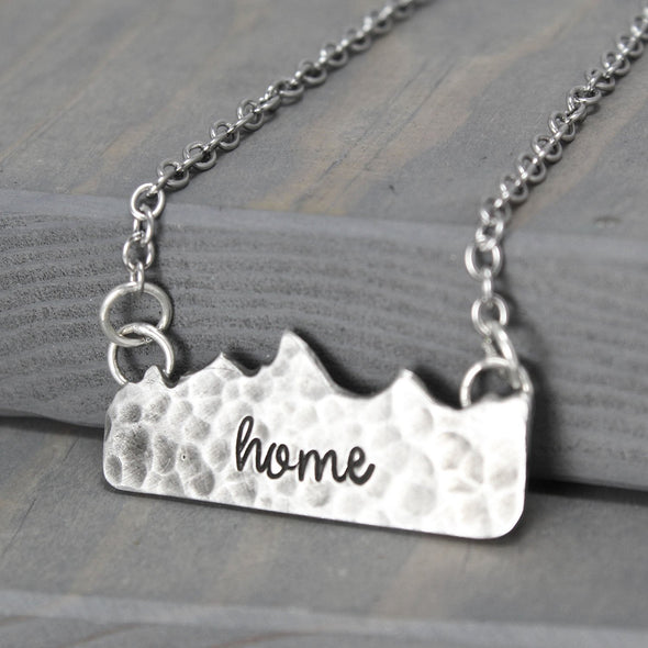 Hammered Tetons Necklace
