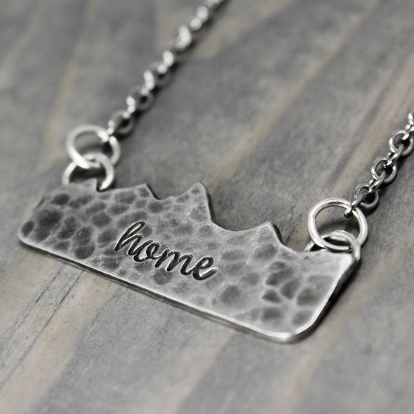 Hammered Mountain Necklace