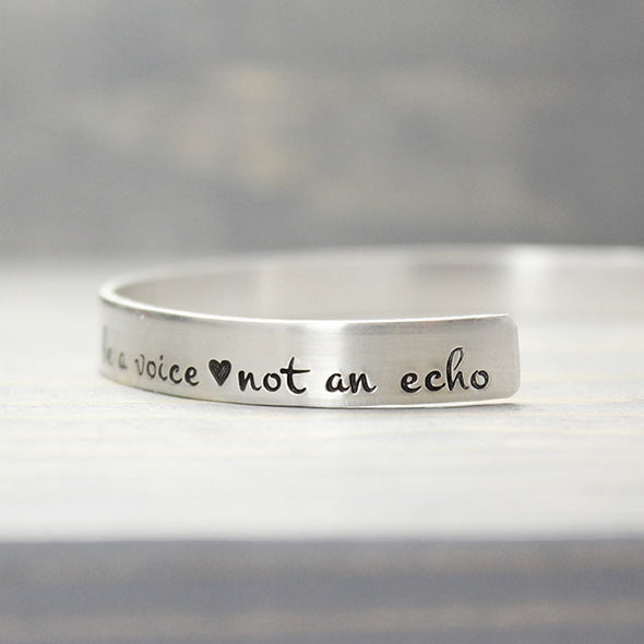 Sterling Silver Be a Voice Cuff