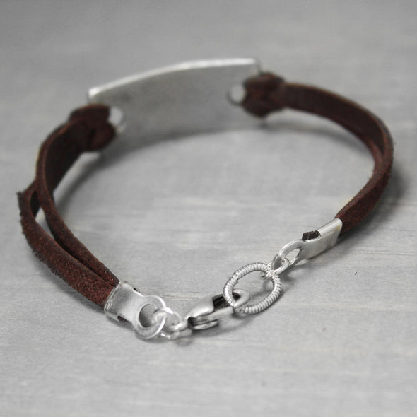 Delta Gamma Leather Bracelet - Pure Impressions Design - 3