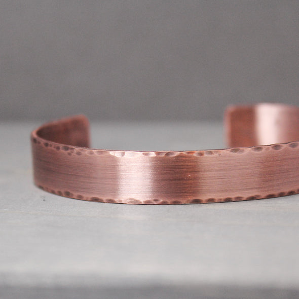 "Distressed Copper Cuff 3/8"" - Pure Impressions Design - 2"