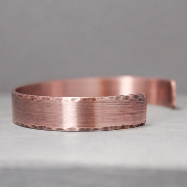 "Distressed Copper Cuff 3/8"" - Pure Impressions Design - 1"