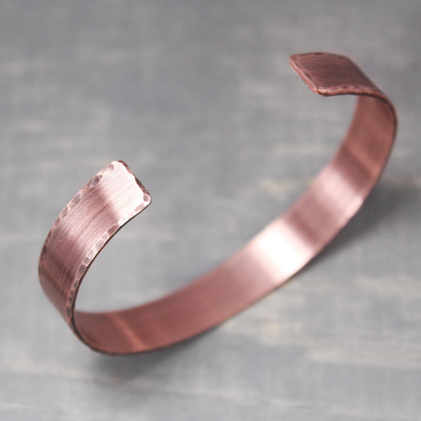 "Distressed Copper Cuff 3/8"" - Pure Impressions Design - 3"