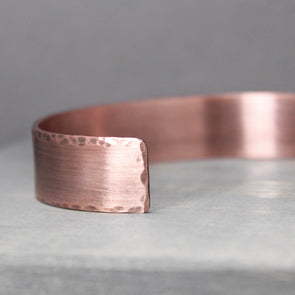 "Distressed Copper Cuff 1/2"" - Pure Impressions Design - 1"