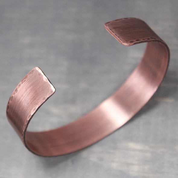 "Distressed Copper Cuff 1/2"" - Pure Impressions Design - 2"