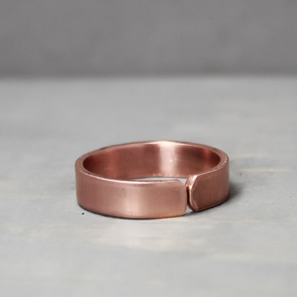 Chi Omega Thin Copper Ring - Pure Impressions Design - 3