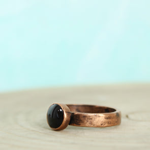 Copper Black Tourmaline Ring