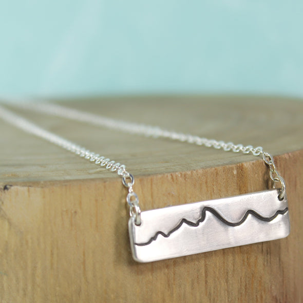 Fine Silver Mountain Necklace