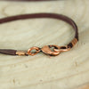 Leather Copper Coordinate Necklace