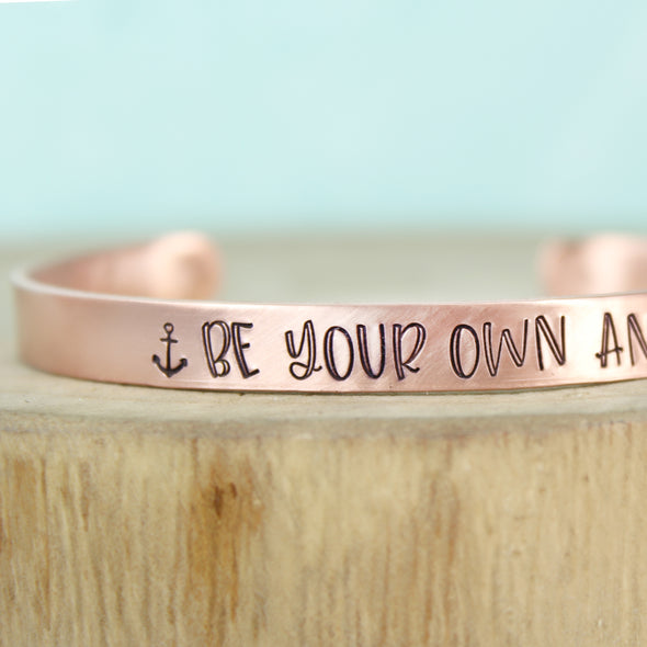 Copper Be Your Own Anchor Cuff