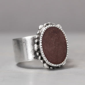 Ornate Garnet Ring