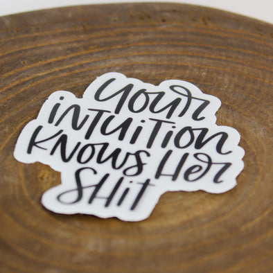 Intuition Sticker
