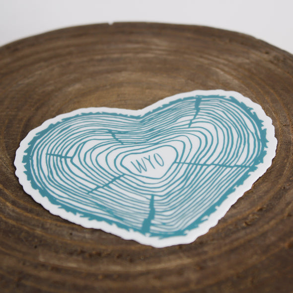 Wyo Heart Tree - Teal