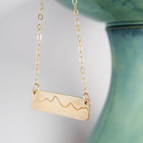 Gold Fill Mountain Necklace
