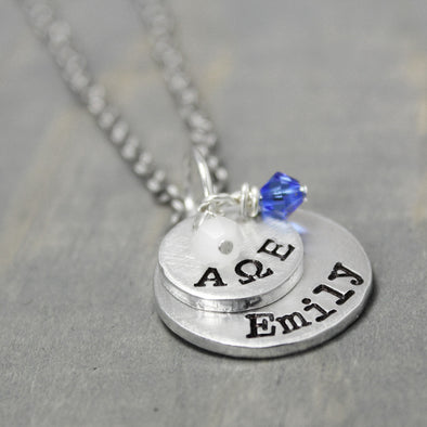 Alpha Omega Epsilon Stacked Necklace - Pure Impressions Design - 1