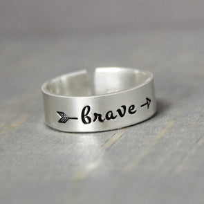 Sterling Silver Brave Ring - Pure Impressions Design - 1