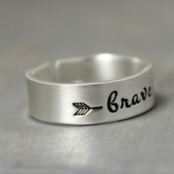 Sterling Silver Brave Ring - Pure Impressions Design - 2