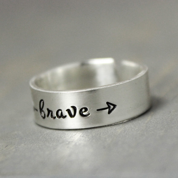 Sterling Silver Brave Ring - Pure Impressions Design - 3