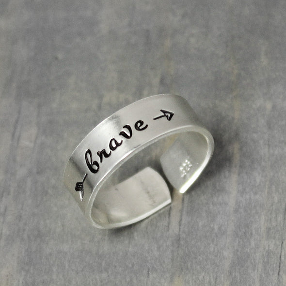 Sterling Silver Brave Ring - Pure Impressions Design - 4