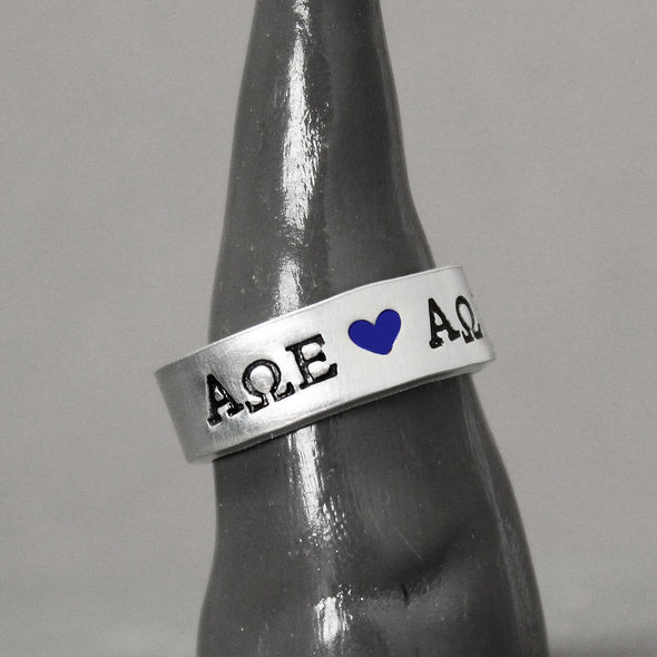 Alpha Omega Epsilon Ring - Pure Impressions Design2