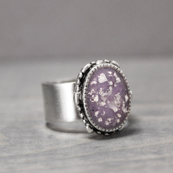 Ornate Amethyst Silver Ring