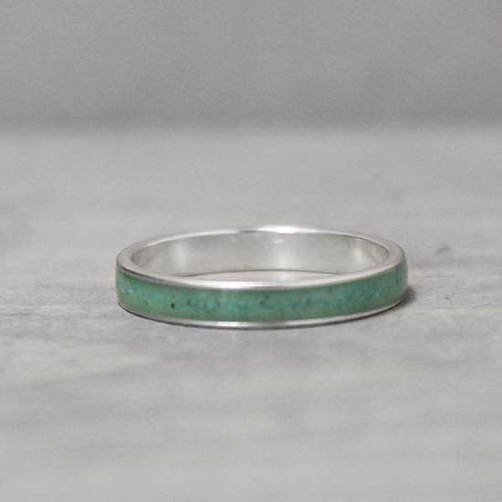 Turquoise Silver Inlay Ring