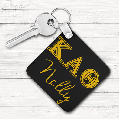 Kappa Alpha Theta Square Key Chain